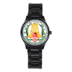 Seal of Indian State of Tamil Nadu  Stainless Steel Round Watch