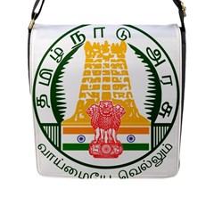 Seal of Indian State of Tamil Nadu  Flap Messenger Bag (L)
