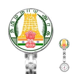 Seal of Indian State of Tamil Nadu  Stainless Steel Nurses Watch