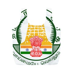Seal of Indian State of Tamil Nadu  Full Print Recycle Bags (M)