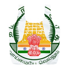 Seal of Indian State of Tamil Nadu  Full Print Recycle Bags (L)