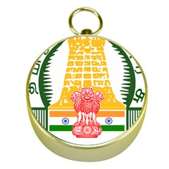 Seal of Indian State of Tamil Nadu  Gold Compasses