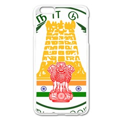 Seal of Indian State of Tamil Nadu  Apple iPhone 6 Plus/6S Plus Enamel White Case
