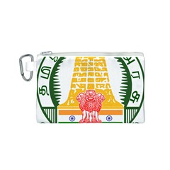 Seal of Indian State of Tamil Nadu  Canvas Cosmetic Bag (S)