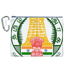 Seal of Indian State of Tamil Nadu  Canvas Cosmetic Bag (XL)