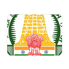 Seal of Indian State of Tamil Nadu  Double Sided Flano Blanket (Mini)