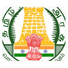 Seal of Indian State of Tamil Nadu  Double Sided Flano Blanket (Small)