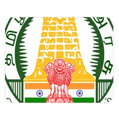 Seal of Indian State of Tamil Nadu  Double Sided Flano Blanket (Large)