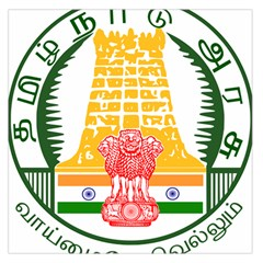 Seal of Indian State of Tamil Nadu  Large Satin Scarf (Square)