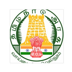 Seal of Indian State of Tamil Nadu  Small Satin Scarf (Square)
