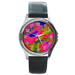 Sky pattern Round Metal Watch