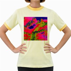 Sky pattern Women s Fitted Ringer T-Shirts