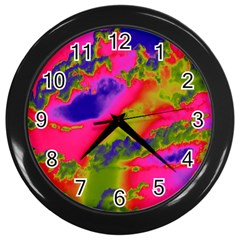 Sky pattern Wall Clocks (Black)