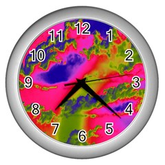 Sky pattern Wall Clocks (Silver)