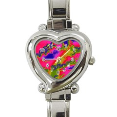 Sky pattern Heart Italian Charm Watch