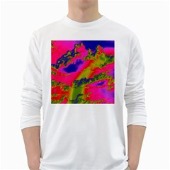 Sky pattern White Long Sleeve T-Shirts