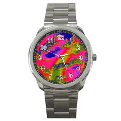 Sky pattern Sport Metal Watch