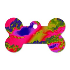 Sky pattern Dog Tag Bone (One Side)