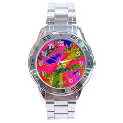 Sky pattern Stainless Steel Analogue Watch