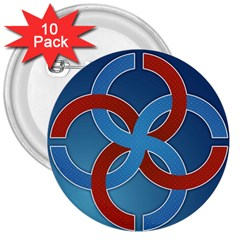 Svadebnik Symbol Slave Patterns 3  Buttons (10 Pack)