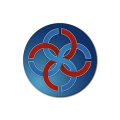 Svadebnik Symbol Slave Patterns Rubber Coaster (round)