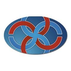Svadebnik Symbol Slave Patterns Oval Magnet