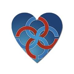 Svadebnik Symbol Slave Patterns Heart Magnet