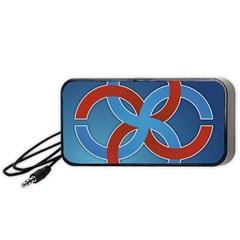 Svadebnik Symbol Slave Patterns Portable Speaker (Black)