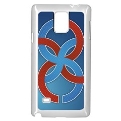 Svadebnik Symbol Slave Patterns Samsung Galaxy Note 4 Case (White)
