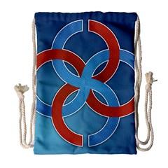 Svadebnik Symbol Slave Patterns Drawstring Bag (large)