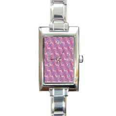 Pattern Abstract Squiggles Gliftex Rectangle Italian Charm Watch