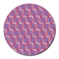 Pattern Abstract Squiggles Gliftex Round Mousepads
