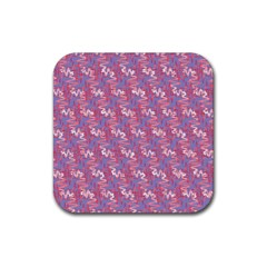 Pattern Abstract Squiggles Gliftex Rubber Square Coaster (4 Pack)