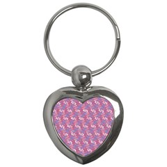 Pattern Abstract Squiggles Gliftex Key Chains (heart)