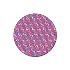 Pattern Abstract Squiggles Gliftex Rubber Coaster (Round)