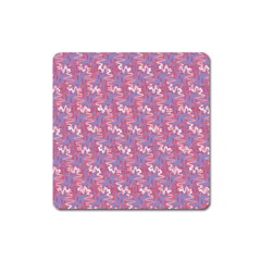 Pattern Abstract Squiggles Gliftex Square Magnet