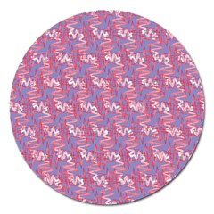 Pattern Abstract Squiggles Gliftex Magnet 5  (round)