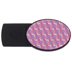 Pattern Abstract Squiggles Gliftex USB Flash Drive Oval (1 GB)