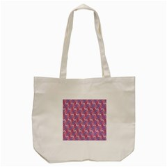 Pattern Abstract Squiggles Gliftex Tote Bag (Cream)