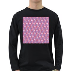Pattern Abstract Squiggles Gliftex Long Sleeve Dark T-Shirts