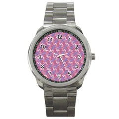 Pattern Abstract Squiggles Gliftex Sport Metal Watch