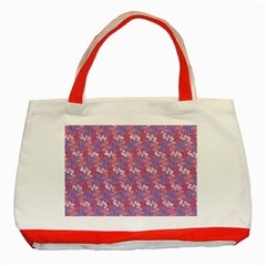Pattern Abstract Squiggles Gliftex Classic Tote Bag (red)