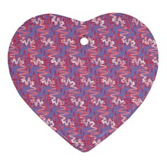 Pattern Abstract Squiggles Gliftex Heart Ornament (two Sides)