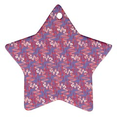 Pattern Abstract Squiggles Gliftex Star Ornament (Two Sides)