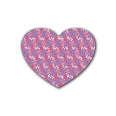 Pattern Abstract Squiggles Gliftex Rubber Coaster (heart)