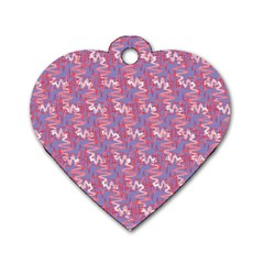 Pattern Abstract Squiggles Gliftex Dog Tag Heart (two Sides)
