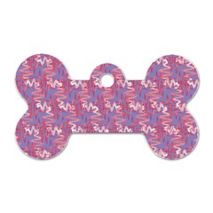 Pattern Abstract Squiggles Gliftex Dog Tag Bone (one Side)