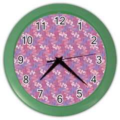 Pattern Abstract Squiggles Gliftex Color Wall Clocks