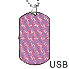 Pattern Abstract Squiggles Gliftex Dog Tag USB Flash (One Side)