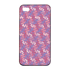 Pattern Abstract Squiggles Gliftex Apple iPhone 4/4s Seamless Case (Black)